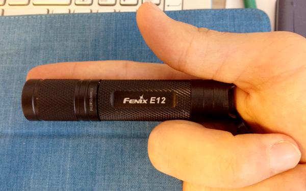 Görsel 2: Fenix E12'nin boyutları.